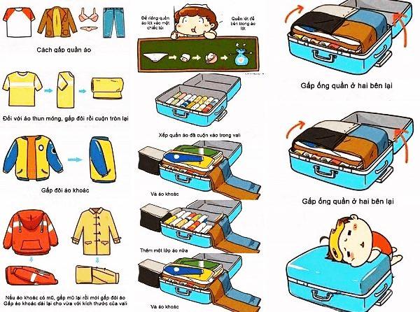 Cách lựa chọn và sắp xếp quần áo khi đi du lịch