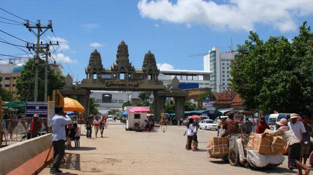 cửa khẩu Aranyaprathet - nhập cảnh Thái Lan