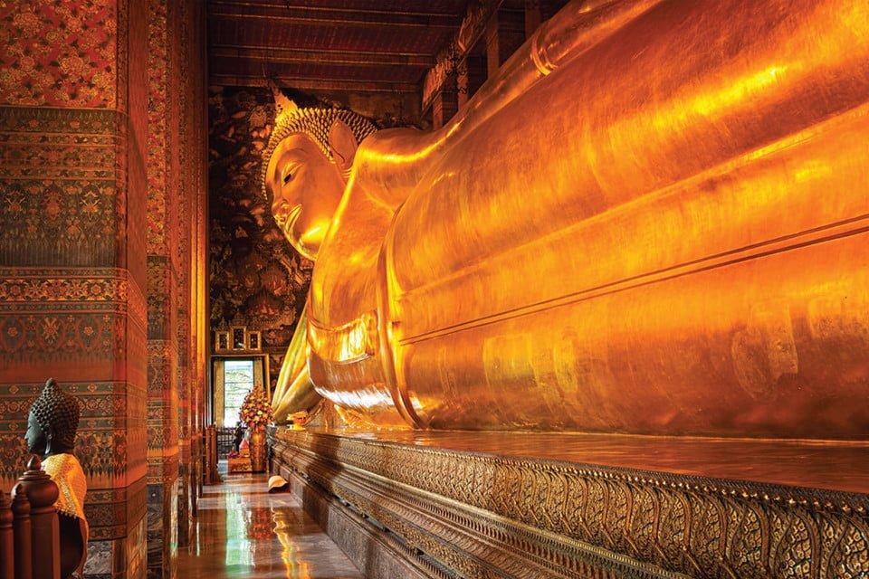 Tĩnh tâm ở đền Wat Pho