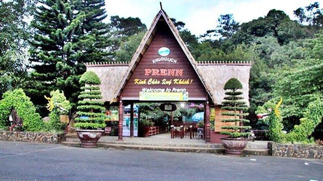 Cổng khu du lịch thác Prenn ( ảnh sưu tầm internet)