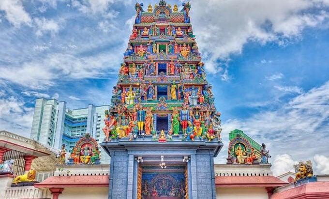 Ngôi đền Sri Mahamariamman- ngôi đền cổ nhất ở Malaysia (ảnh sưu tầm)