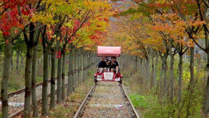 Trải nghiệm cảm giác đi xe trượt trên đường sắt (ảnh sưu tầm)