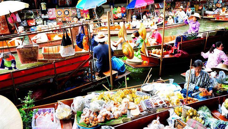 Chợ nổi Damnoen Saduak với nhiều trải nghiệm thú vị (ảnh sưu tầm)