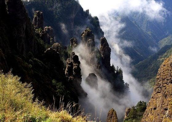 Đỉnh núi phủ đầy sương quanh năm ở Thần Nông Giá (ảnh internet)