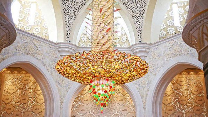 Hình ảnh chiếc đèn ở thánh đường (ảnh sưu tầm)