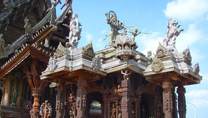 Một góc của ngôi đền Chân Lí (ảnh sưu tầm)
