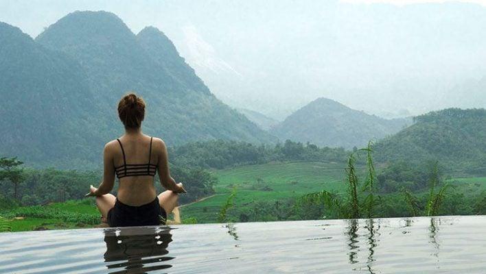 Bể bơi nước tràn ở Pù Luông Retreat (ảnh internet)