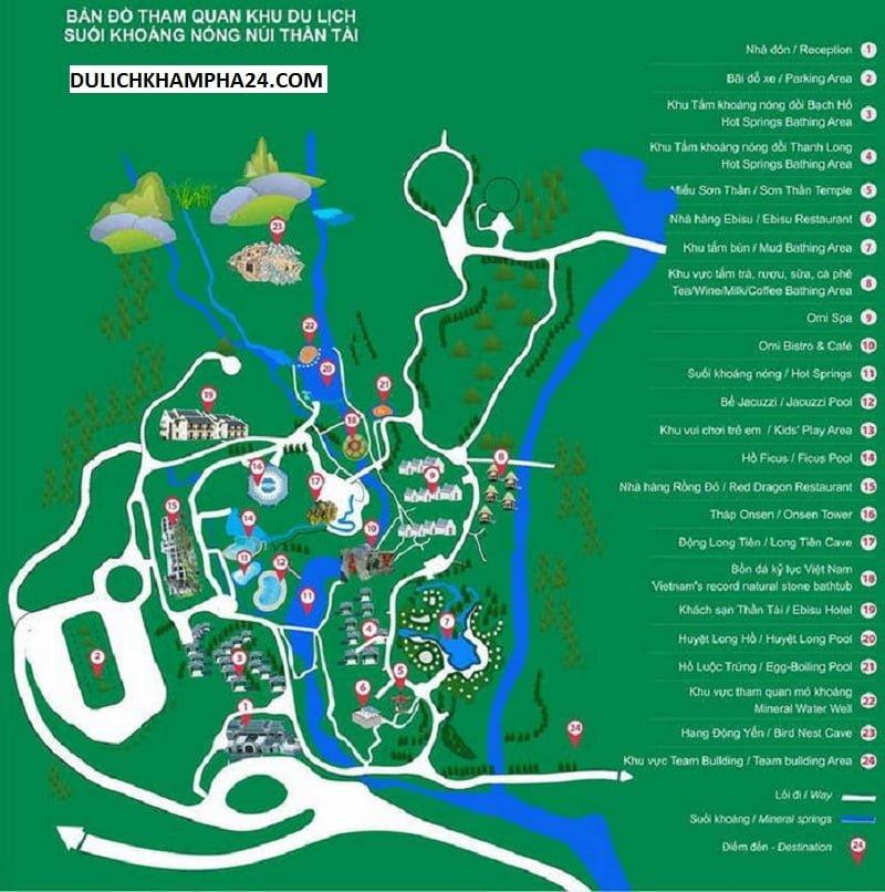 Bản đồ tham quan ở Núi Thần Tài (ảnh internet)