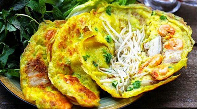 Bánh xèo món ngon nổi tiếng ở Quảng Bình( ảnh internet)