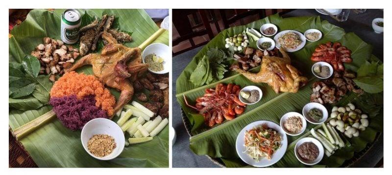 Đồ ăn ở nhà hàng Sông Chày Hang Tối (ảnh internet)