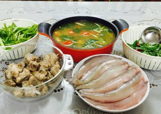 Món lẩu cá khoai ngon ở Quảng Bình (ảnh internet