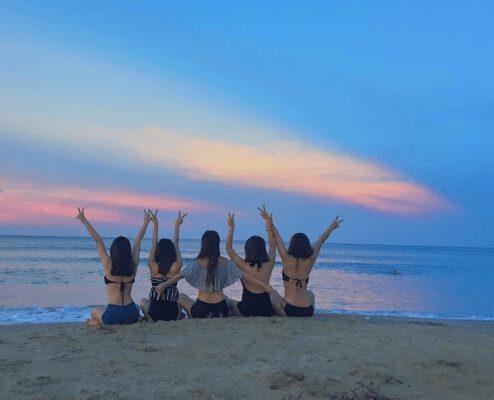 Ngắm biển tắm mát thoải mái ở biển Nhật Lệ (ảnh internet)