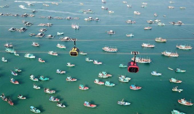 Cáp treo đến Hòn Thơm Phú Quốc (ảnh internet)