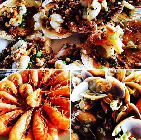 Các món hải sản ngon ở biển Hà My (ảnh sưu tầm)