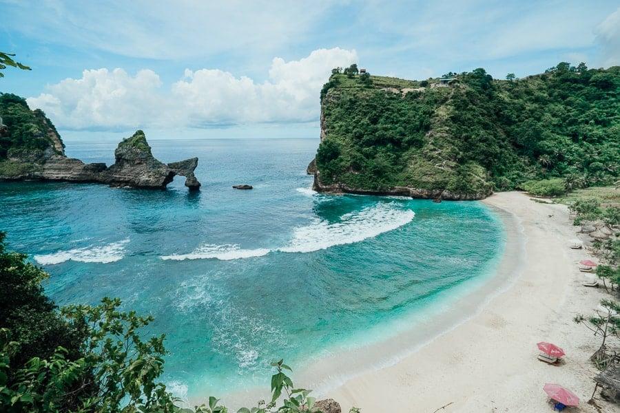 Biển Atuh Beach O Bali xinh đẹp (ảnh sưu tầm)