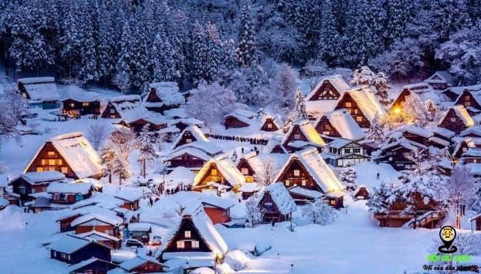 Mùa đông ở ngôi làng Shirakawago (ảnh st )