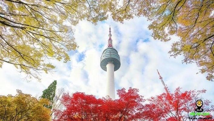 chiêm ngưỡng ngọn tháp Namsan (N Seoul Tower) cao nhất 479,7 m (ảnh sưu tầm)