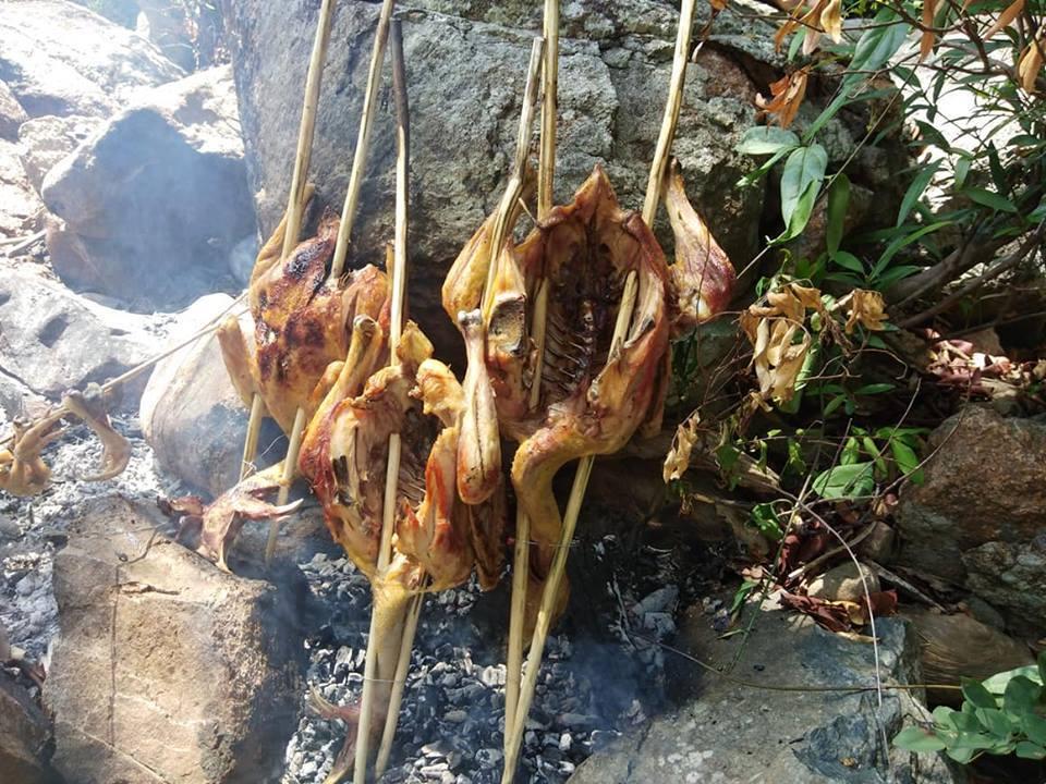 Nướng gà trên núi chúa (ảnh sưu tầm)