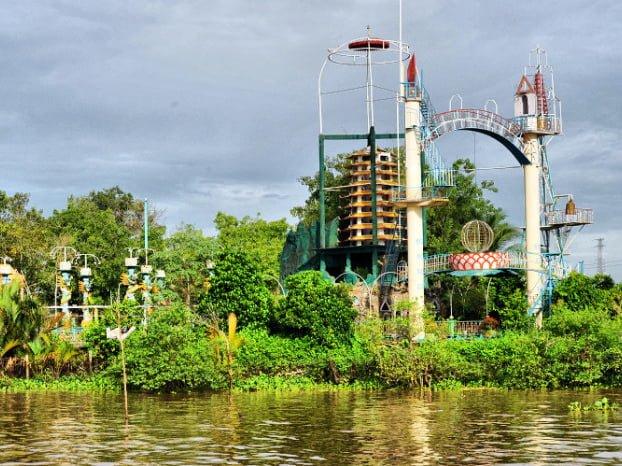 Kiến trúc đạo dừa ở Cồn Phụng (ảnh sưu tầm)