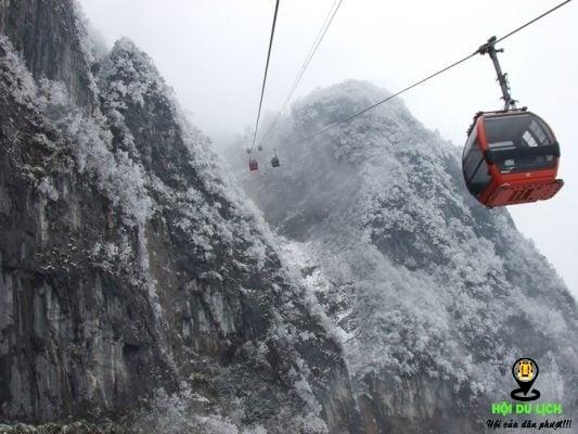 Cáp treo dài nhất tại một ngọn núi cao nhất trên thế giới