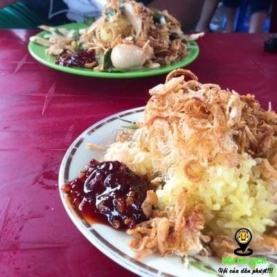 Món xôi gà bà Bé ngon ở Đà Nẵng