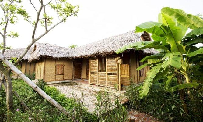 Khu nhà nghỉ chị Dậu ở Vườn Vua Phú Thọ