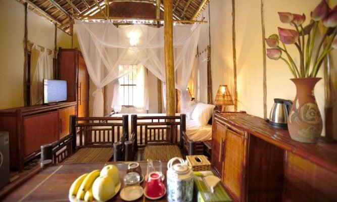 Không gian nhà nghỉ chị Dậu ở Vườn Vua Phú Thọ