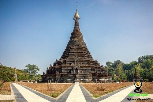 Những ngôi đền ở Mrauk U xây bàng gạch đá cổ kính (ảnh sưu tầm)