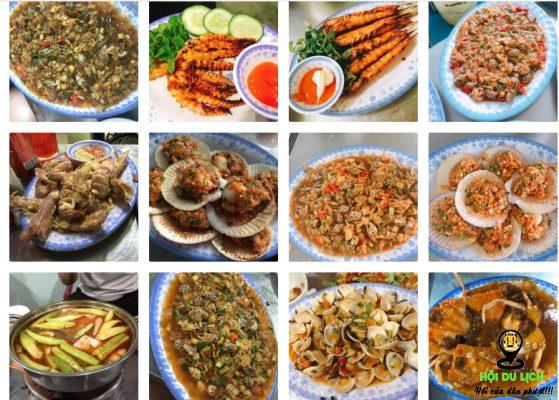 các món hải sản ở Năm Đảnh (ảnh sưu tầm)