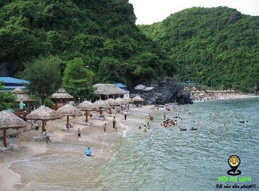 Bãi tắm Cát Cò 1 ở đảo Cát Bà