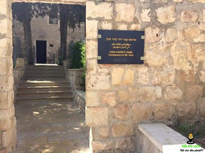 Lối vào lăng mộ vua David - vị vua thứ Hai của người Do thái