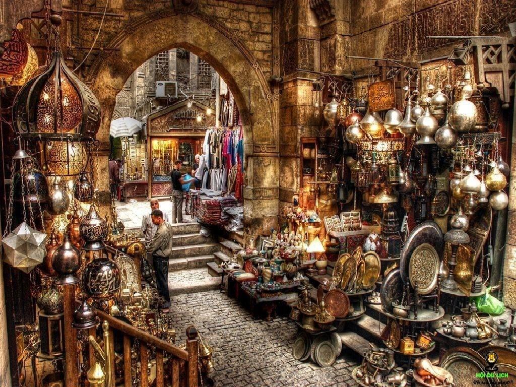 Một khu chợ nằm giữa lòng thủ đô Cairo, Ai Cập