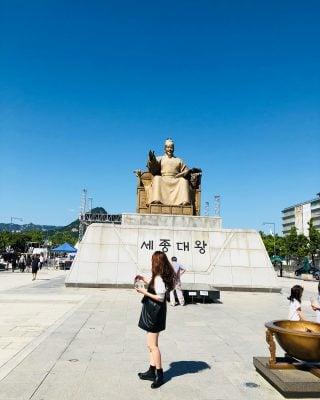 Tượng đài vua SeJong. Ảnh sưu tầm
