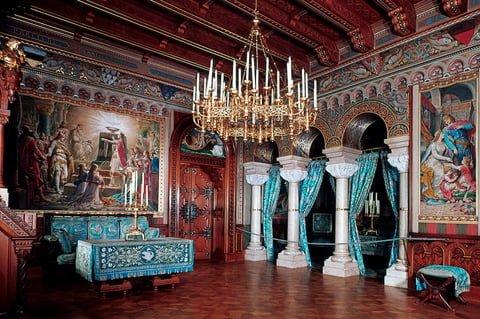 Căn phòng lâu đài Neuschwanstein trang trí đẹp (ảnh sưu tầm)