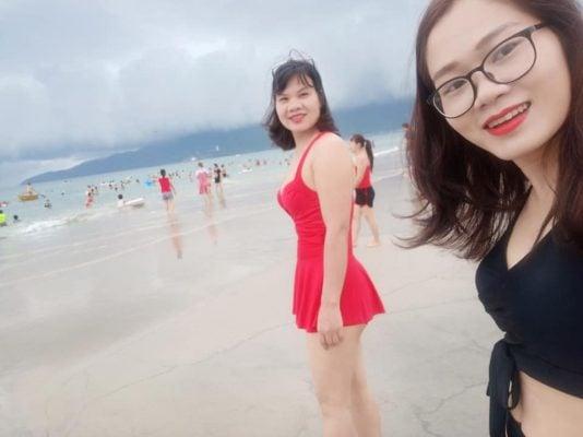 Biển Sơn Trà xinh đẹp(ảnh tự chụp của Thanh Thủy)