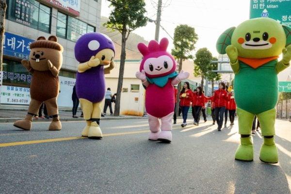 Các hoạt động vui nhộn ở lễ hội Jeongseon Arirang (ảnh st)