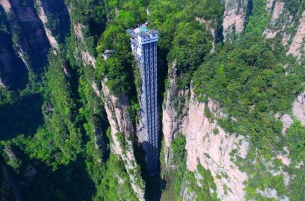 Trải nghiệm đi thang máy Bách Long lên núi (ảnh sưu tầm)
