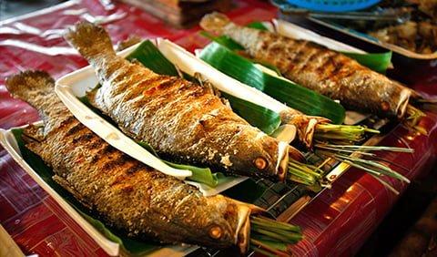 Pa Pỉnh Tộp - Cá nướng