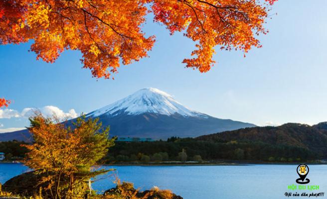 Bức tranh mùa thu ở núi Phú Sỹ- ảnh sưu tầm