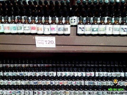 Các loại tinh dầu để bạn chọn mua ở Chiang Mai - ảnh sưu tầm