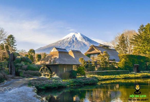 Mùa thu đẹp yên bình ở ngôi làng cổ Oshino Hakkai- ảnh sưu tầm