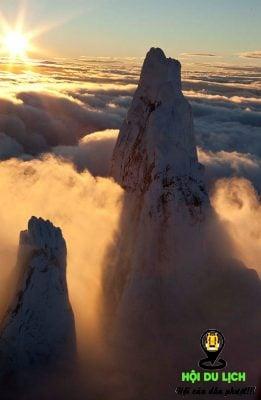 Ngọn núi Patagonian ở Cerro Torre của Argentina- ảnh sưu tầm