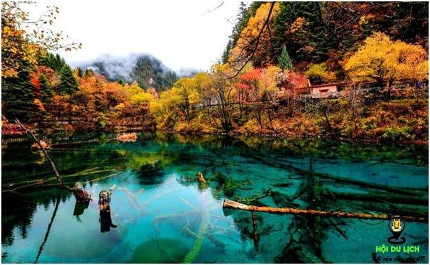 Thung lũng Jiuzhaigou trong mùa thu- ảnh sưu tầm