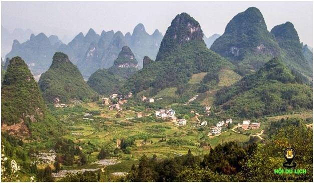 Khung cảnh đồng quê Quế Lâm