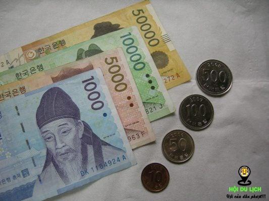 Tiền tệ Hàn Quốc tính bằng won