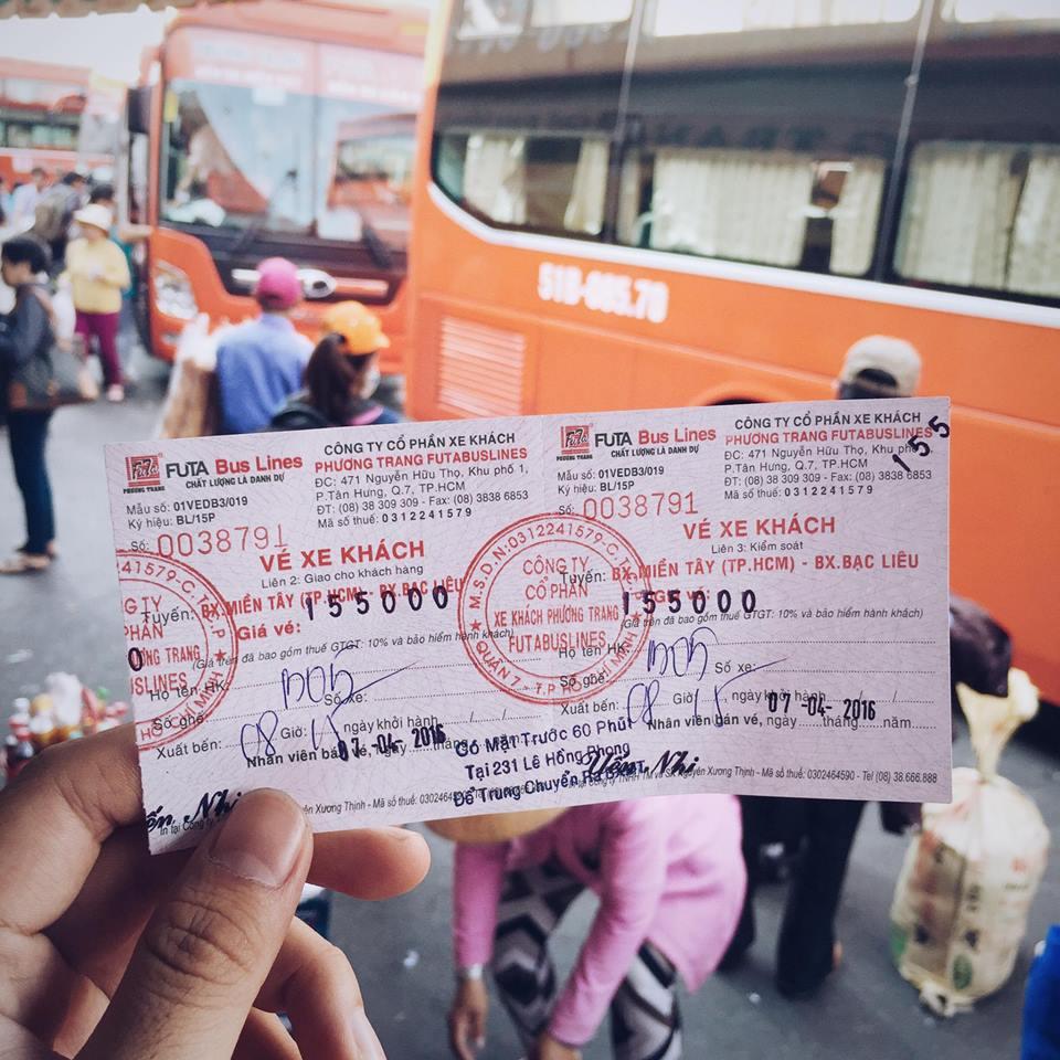 Vé xe Phương Trang đến Bạc Liêu