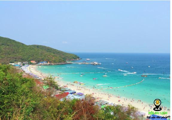 Bãi biển Tawaen bãi tắm dài nhất trên đảo, đông khách du lịch- ảnh sưu tầm