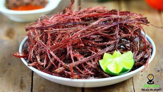 Thịt trâu gác bếp ở Yên Bái- ảnh sưu tầm