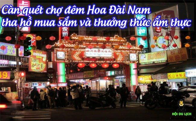 Chợ đêm Hoa Đài Nam với món bánh mì quan tài đặc trưng.