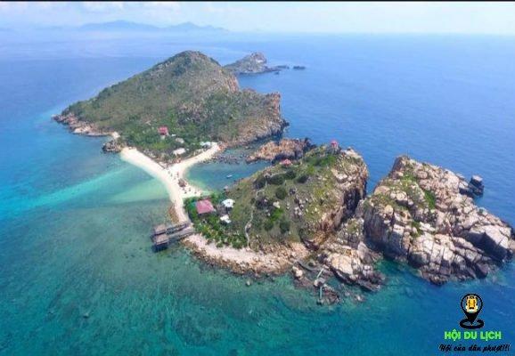 Toàn bộ khung cảnh của đảo Yến Nha Trang.